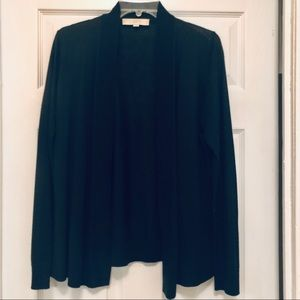 LOFT BLACK OPEN CARDIGAN SWEATER